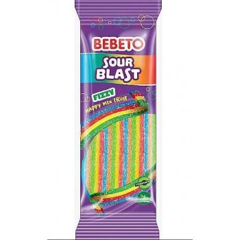 Bonbons Sour Blast - Mix Fruit - Bebeto - Halal - Sachet 180 gr