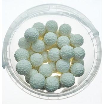 Bonbons Balle Blanche Mixe de Fruits Boule de Bubble Gum - Bebeto - Halal - Boite de 250gr