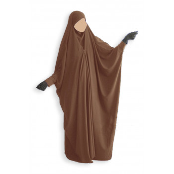Jilbab 1 Pièce Saoudien à Clips - Cannelle - Jilbeb Umm Hafsa
