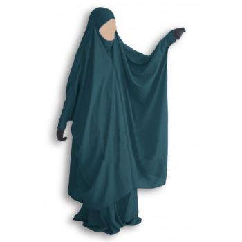 Jilbab 2 Pièces à Clips - Vert Canard - Jilbeb Umm Hafsa