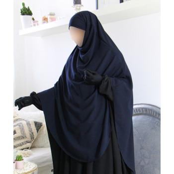 Hijab / Khimar Extra Long Hafsa - Bleu - Umm Hafsa