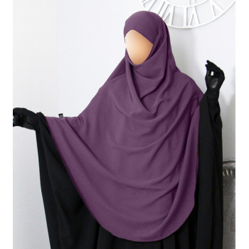 Hijab / Khimar Extra Long Hafsa - Prune - Umm Hafsa