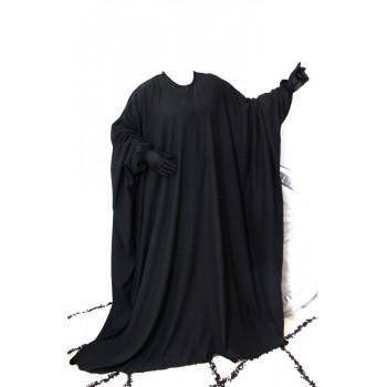 Abaya Papillon et Allaitement - Noir - Arbaya Umm Hafsa