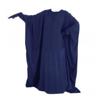 Abaya Papillon et Allaitement - Bleu Nuit - Arbaya Umm Hafsa