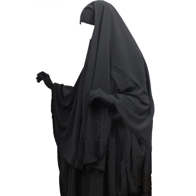 Hijab / Khimar Cape - Noir - Umm Hafsa