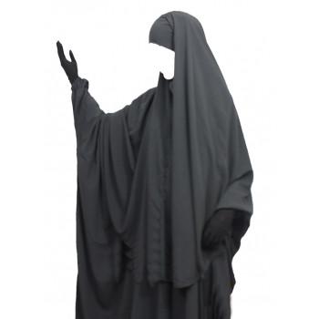 Hijab / Khimar Cape - Gris - Umm Hafsa