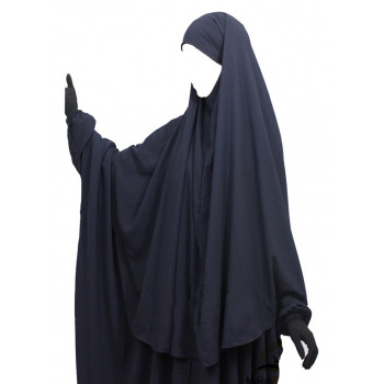 Hijab / Khimar Cape - Bleu - Umm Hafsa