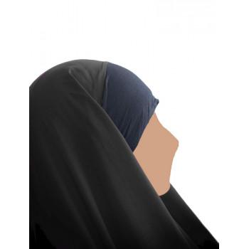Hijab / Khimar Maryam Bandeau Lycra - Noir - Umm Hafsa