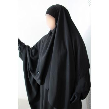 Hijab / Khimar Lycra - Noir - Umm Hafsa