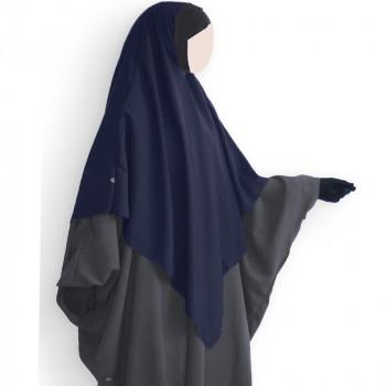 Hijab / Khimar Lycra - Bleu Nuit - Umm Hafsa