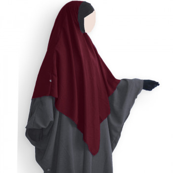 Hijab / Khimar Lycra - Bordeaux - Umm Hafsa