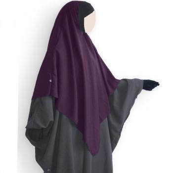 Hijab / Khimar Lycra - Prune - Umm Hafsa