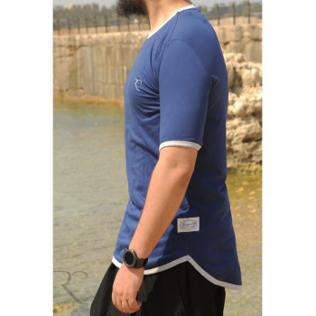 T-Shirt Oversize 100% coton - Bleu Nuit - Rayane