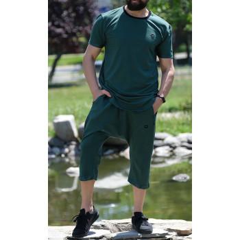 Sarouel et T-shirt Vert Bouteille, ensemble Qaba'il : Nautik New 2020