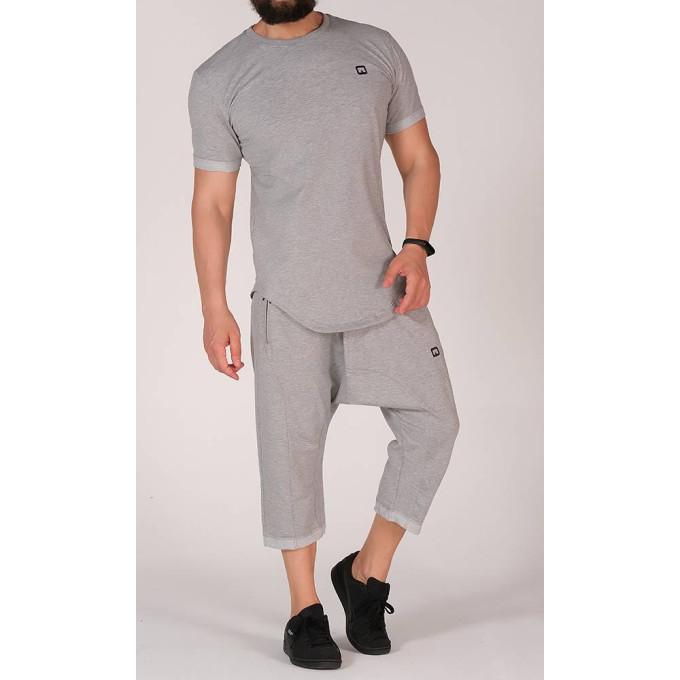 Sarouel et T-shirt gris clair, ensemble Qaba'il : Nautik New 2020