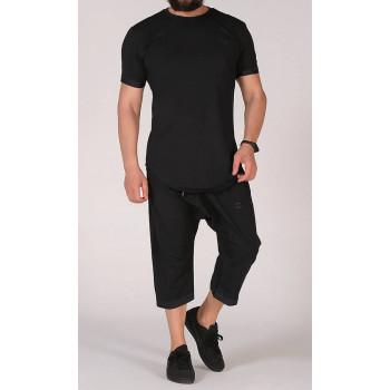 Sarouel et T-shirt noir, ensemble Qaba'il : Nautik New 2021