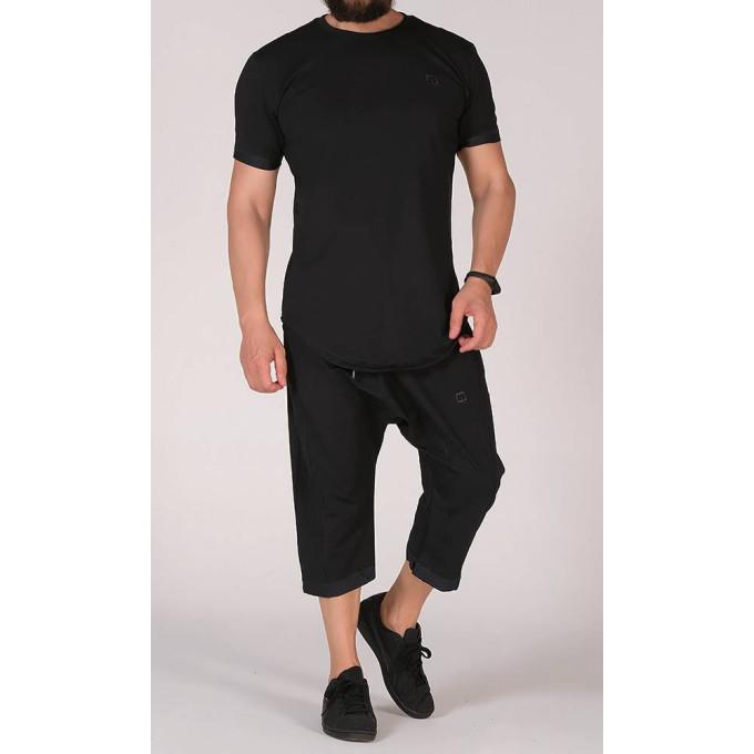 Sarouel et T-shirt noir, ensemble Qaba'il : Nautik New 2020