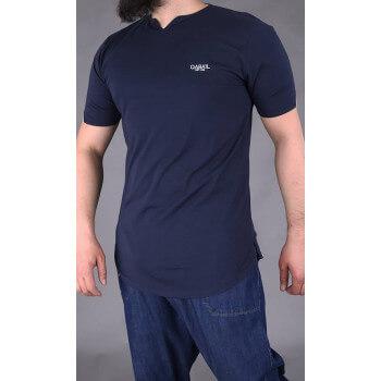 T-shirt Level Bleu Nuit Qaba'il : manches courtes