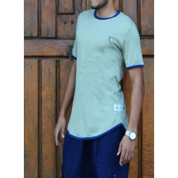 T-Shirt Oversize 100% coton - Bleu Vert - Rayane