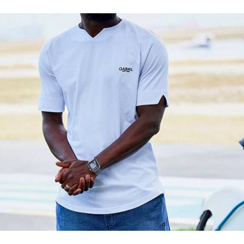 T-shirt Level Blanc Qaba'il : manches courtes