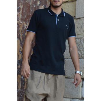 Polo Oversize 100% coton - Noir - Rayane