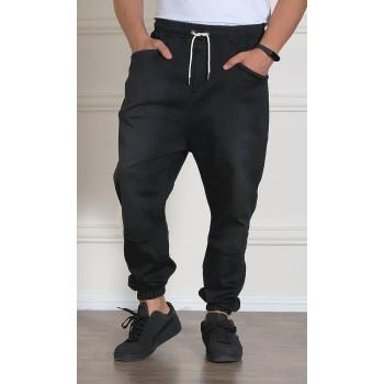 Sarouel Jean Stretch - Noir - Qaba'il : Coupe Djazairi - Pants Léger