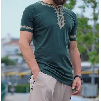 T-Shirt Etniz Vert - Qaba'il : manches courtes