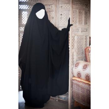 Big Jilbab 2 Pièces Jupe - Noir - Jilbeb Umm Hafsa