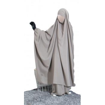 Big Jilbab 2 Pièces Jupe - Taupe - Jilbeb Umm Hafsa