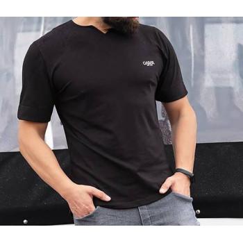 T-shirt Level Noir Qaba'il : manches courtes