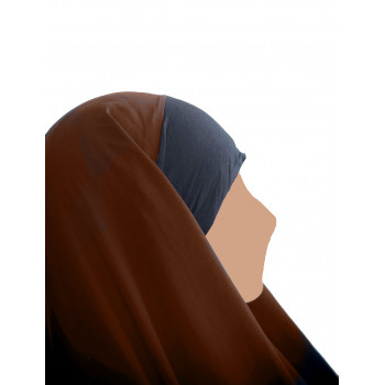 Hijab / Khimar Maryam Bandeau Lycra - Cannelle - Umm Hafsa