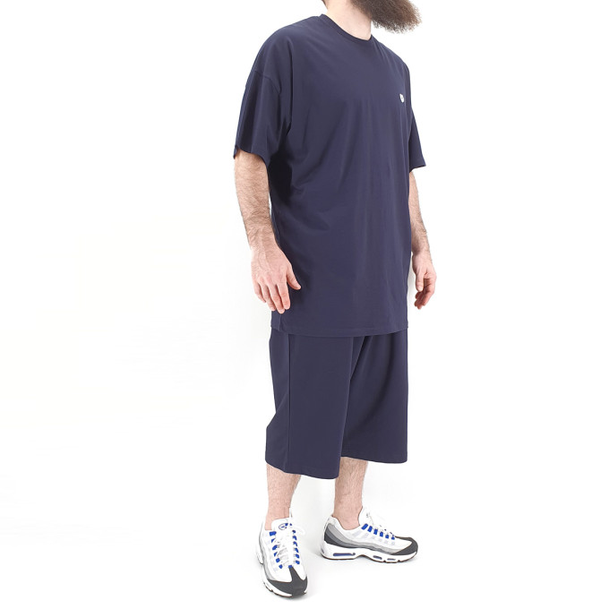 Ensemble Hem Bleu Nuit : Tshirt Oversize + Saroual - Manche Courte - DC Jeans