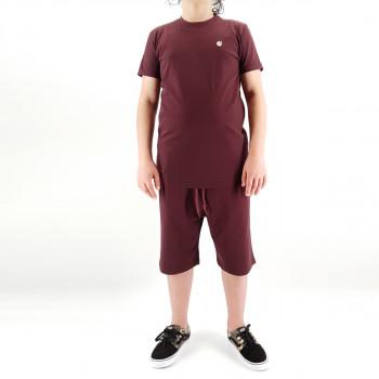 Ensemble Hem Kid - Bordeaux - Sarouel + T-Shirt de 6 à 14 ans - DC Jeans