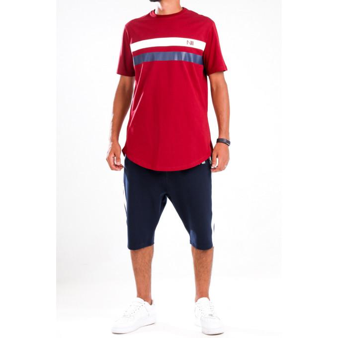 Ensemble Harvard - Rouge et Bleu - T-Shirt Oversize - Saroual Djazairi - Na3im