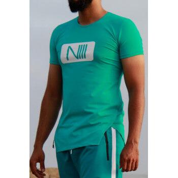 Tshirt NIII Coton - Turquoise - T-Shirt Oversize - Na3im