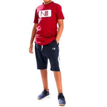Ensemble Kids Harvard - Rouge et Noir - T-Shirt Oversize - Saroual Djazairi - Na3im