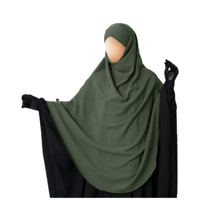 Hijab / Khimar Hafsa - Extra Long - Kaki - Umm Hafsa