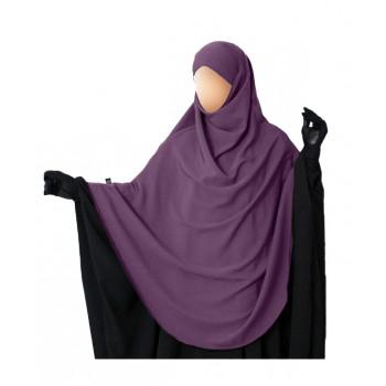 Hijab / Khimar Hafsa - Extra Long - Prune - Umm Hafsa