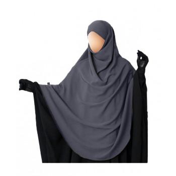 Hijab / Khimar Hafsa - Extra Long - Gris - Umm Hafsa