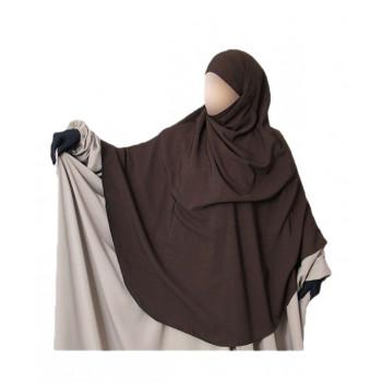 Hijab / Khimar Hafsa - Extra Long - Marron - Umm Hafsa