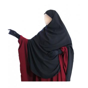 Hijab / Khimar Hafsa - Extra Long - Noir - Umm Hafsa