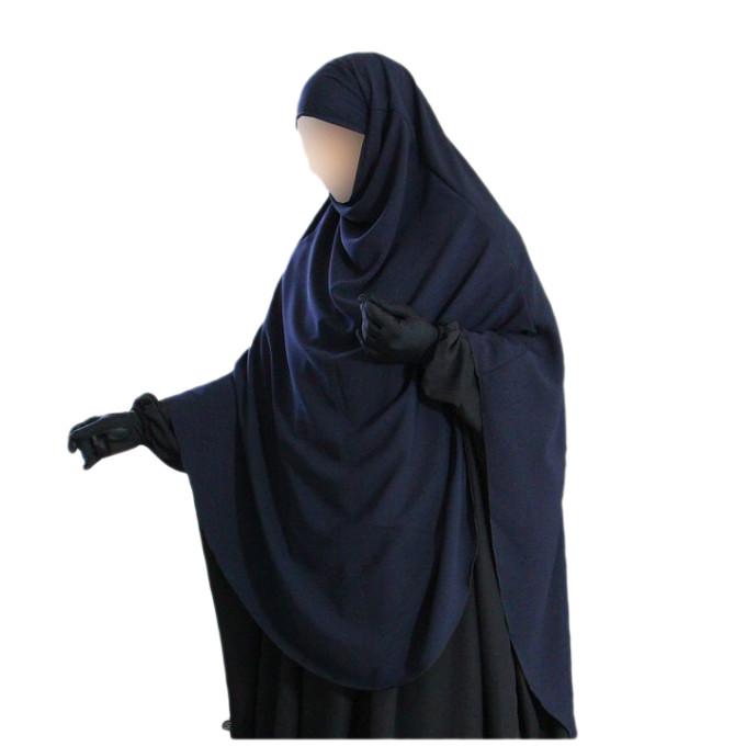 Hijab / Khimar Hafsa - Extra Long - Bleu - Umm Hafsa