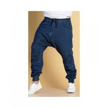 Sarouel en jean bleu brut Qaba'il : 100% coton - Jean Next