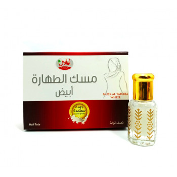 Musc Blanc 6 ml - Musc Tahara - Itr Attar Abyadh - Parfums Epais - Al Helal Perfumes Factory - Arabie Saoudite
