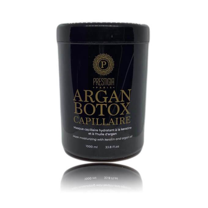 Argan Botox Masque Capillaire à la Kératine et à l'Huile d'Argan - 1000 ml - Prestigia