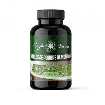 60 Gélules à la Poudre de Moringa BIO - Nigelle Source - 40 gr