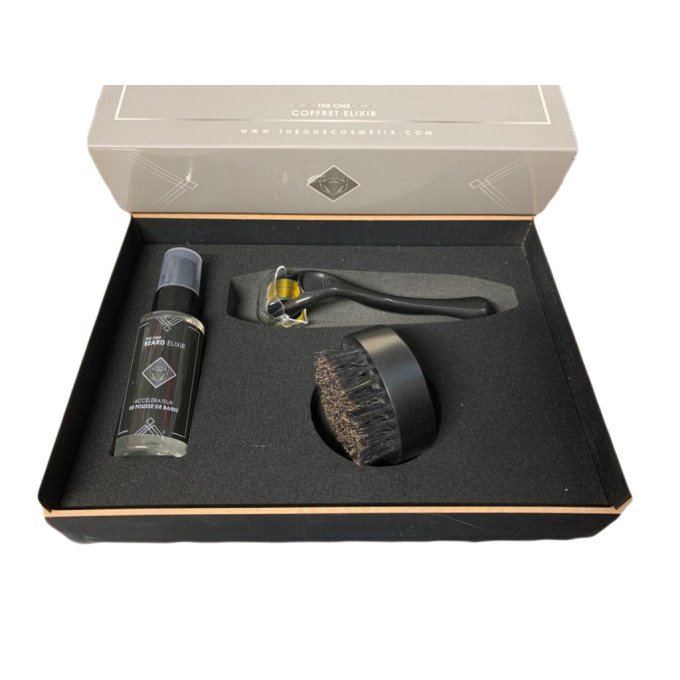 Coffret Elixir - Kit Barbe, Accélérateur de Pousse - Huiles 100% Naturelles - The One Cosmetix