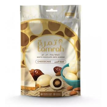 Datte enrobé de Chocolat Blanc et Cheesecake avec une Amande - Datte Tamrah - 100gr