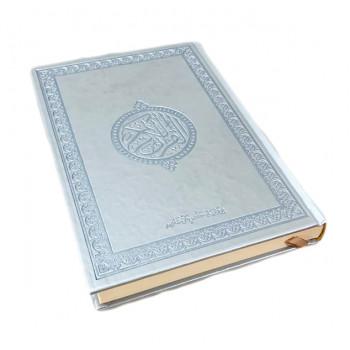 Le Saint Coran Arabe - Argenté - Grand Format - 14 X 20 cm