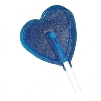 Grande Sucette Coeur Bleu - Framboise - Bonbon Halal